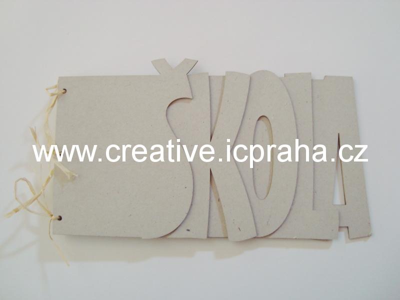 Minialbum - 5listů - Škola  28,7x16,4cm