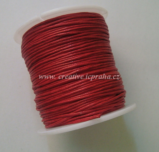 Povoskovaná šňůrka, červená