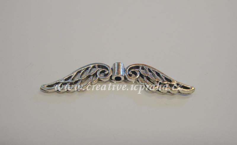 křídla - anděl 52x7mm postříbřeno