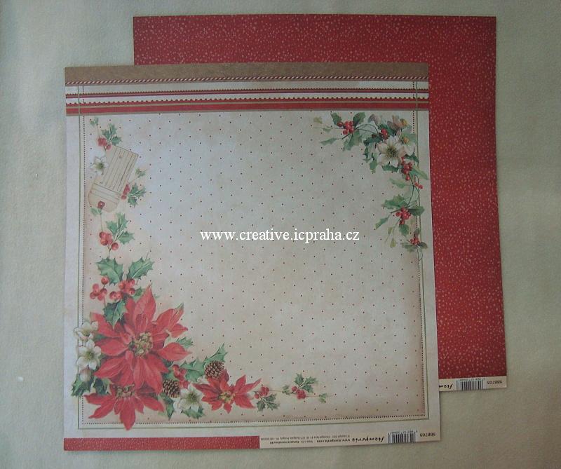 Stamperia - Vánoční hvězda 30x30/190g/m2