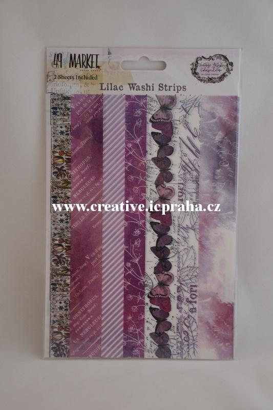 Washi páska - 49Market Lilac 2ks 13x18,5cm