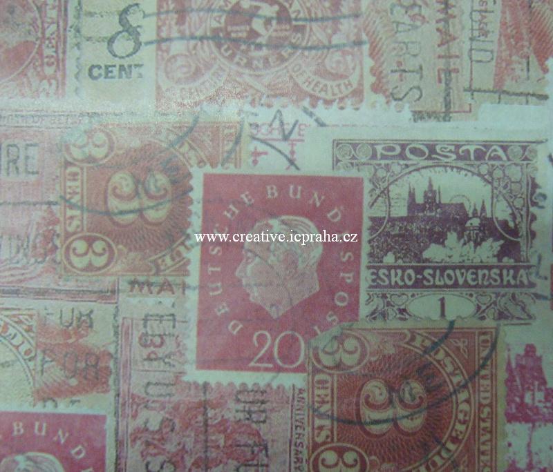 decu papír Známky 26x37,5cm 22g/m2 Ry71-968