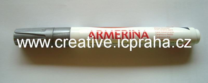 popisovač Armerina na porcelán 6ml - stříbrná
