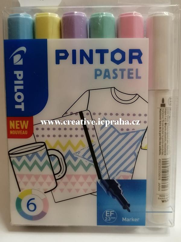 značkovače PINTOR pastel 0,7 sada 6ks