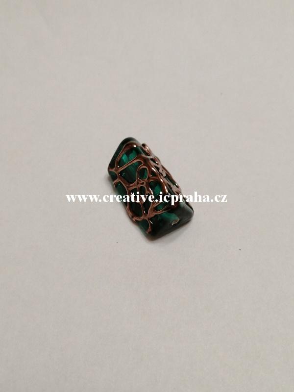 trohránek smaragd/mřížka 43098 16x8mm