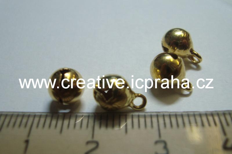 kov - rolnička zlatá 6mm bal. 10ks
