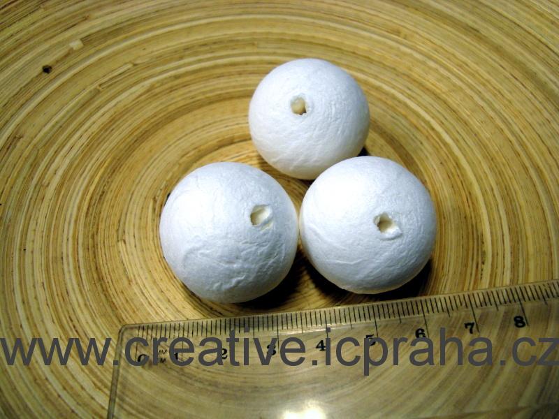 kuličky vatové - bílé 3cm 41000520/ks