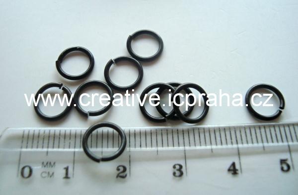 Spojovací kroužek 8mm černý zinek10ks