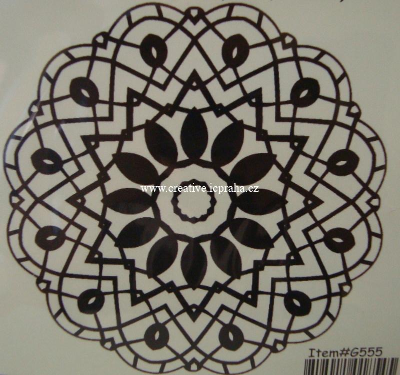 razítka Cling - Mandala 5,5cm G555
