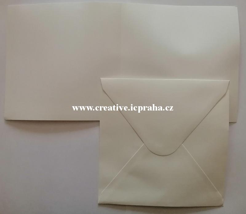 přání A6 + obálka - kraft papír 240g/m2