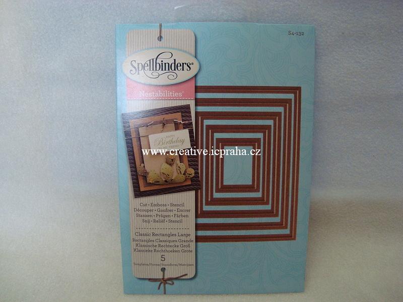 vyřezávací šablona  Spellbinders - Obdeníky 5ks