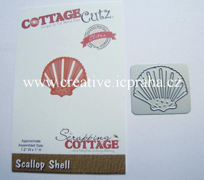 vyřezávací šablona  COTTAGE Cutz Mušle CCE282