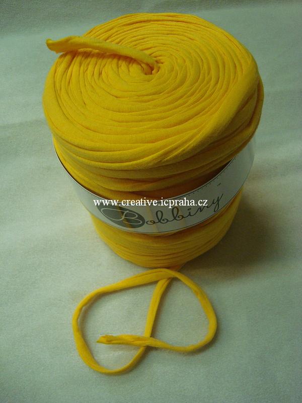 Bobbiny120m - žlutá sytá