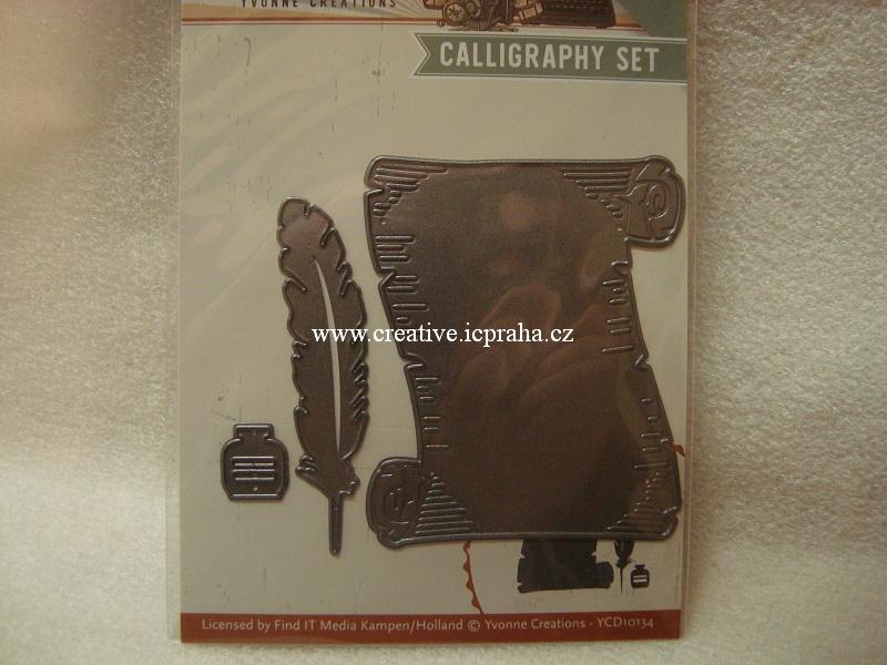 vyřezávací šablona  YCD - Caligraphy Set