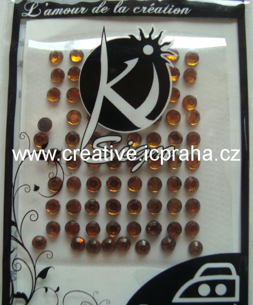 nažehl. kamíny C -Strass 4mm orange bal. 80ks