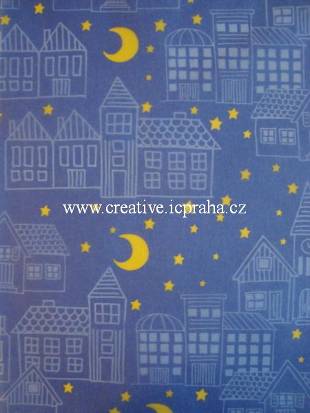 transp.papír A4 - noční město/SLEVA