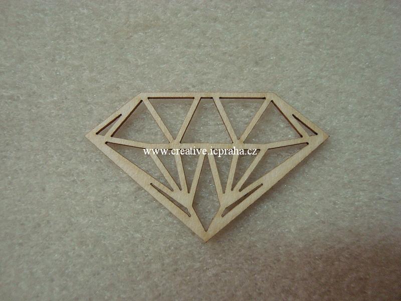 výřezy diamanty 5ks