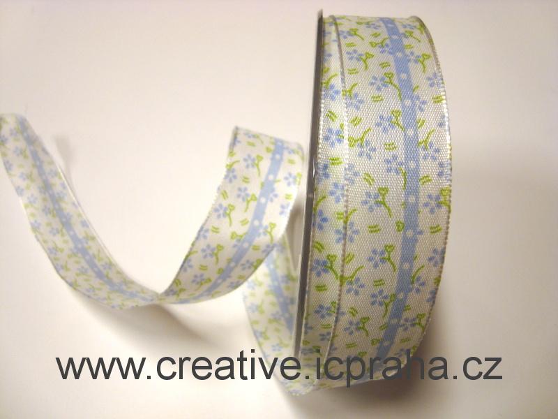 stuha-drátek- bílá