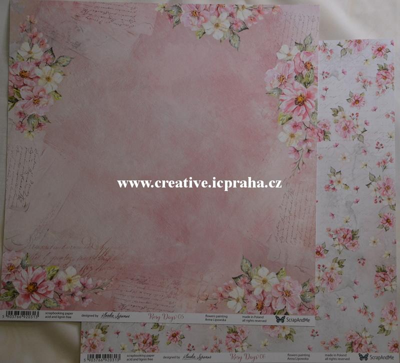 ScrapAndMe Rosy Days 05/06 30.5x30.5cm 250g/m2