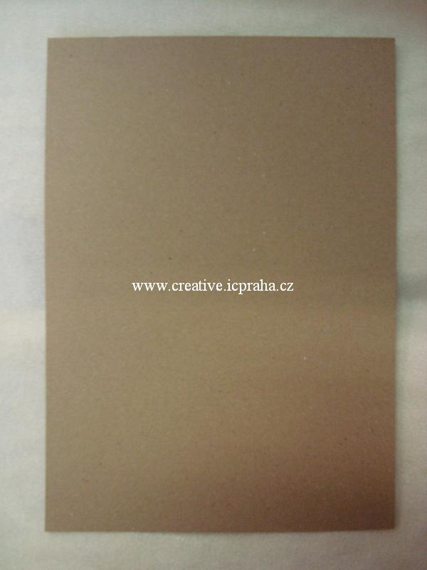 papír kartonový A4 220g/m2 kraft tmavý