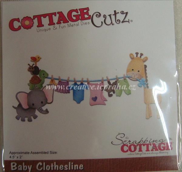 vyřezávací šablona  COTTAGE Cutz Prádélko CC279
