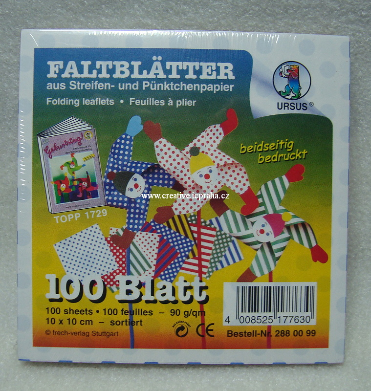 origamipapír URSUS 10x10cm bal.100ks 2880099