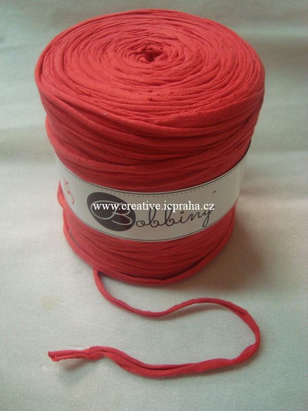 Bobbiny120m - červená korálová
