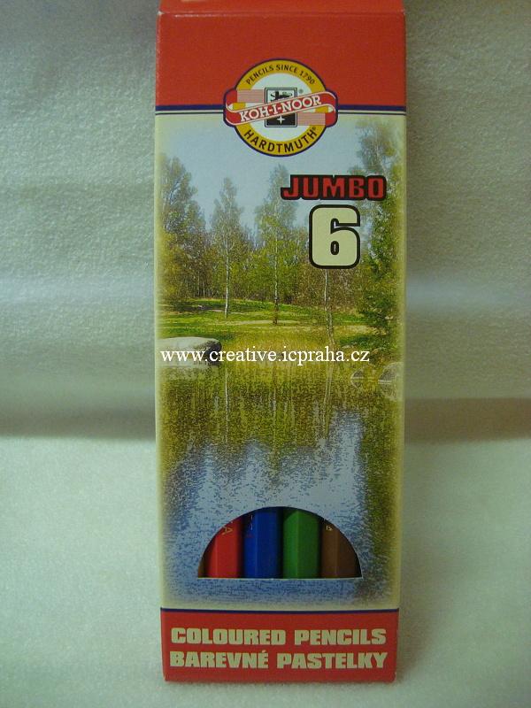 pastelky Koh-i-noor/Jumbo 6 barev