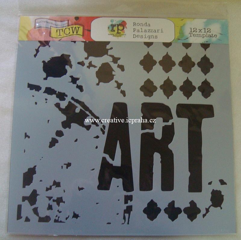 šablona plast TCW 30x30cm Viva Art 488