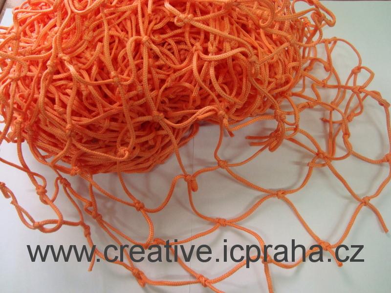 síťka uzlová 3x1m oranžová (oko 5cm) polypropylen