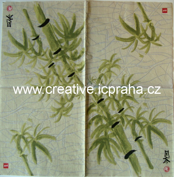 bambus malovaný