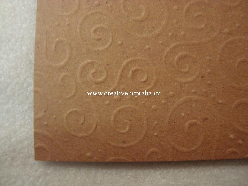ražený papír 220g/m2 A4 Milano hnědá