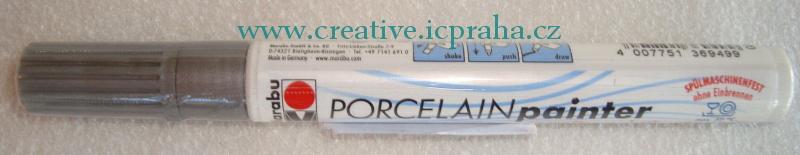 Popisovač na porcelán 1-2mm 01230031082  stříbrný