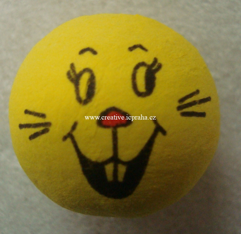 obličej (30mm) - žlutý zajíc 41002810