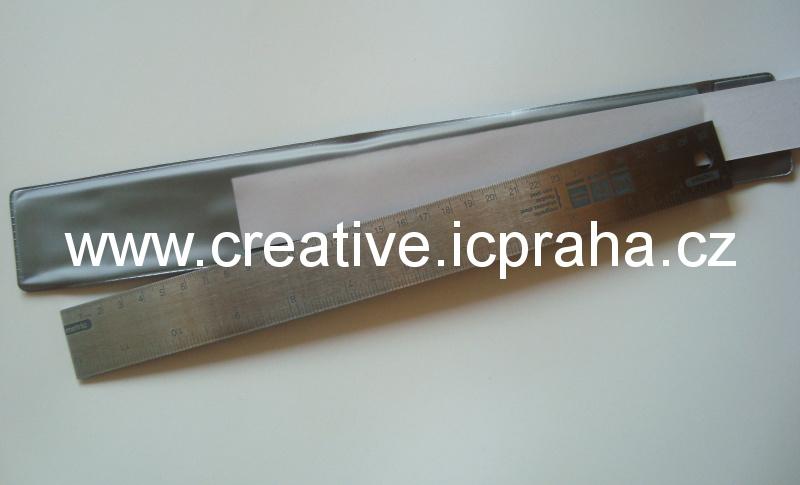 pravítko 30cm kov s mag.úpr. cm/palce WeR70961-9