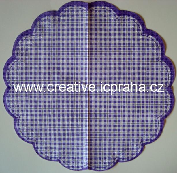 kostičkovaný  PAW - kulatý - fialový