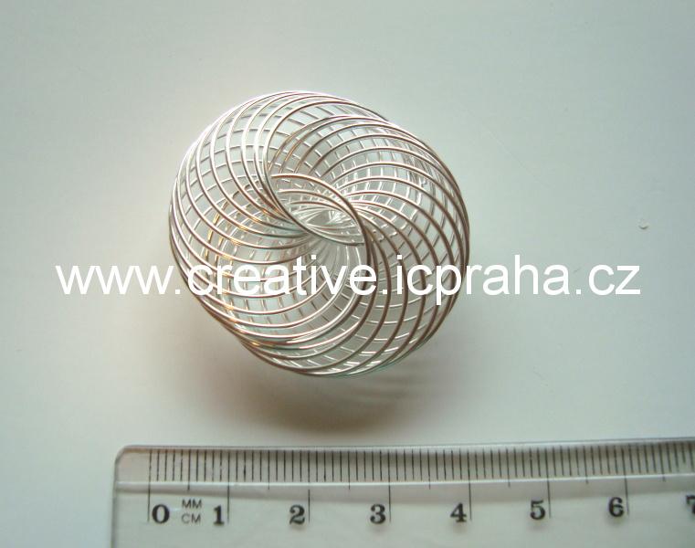kolečko spirálové 40mm postříbřené
