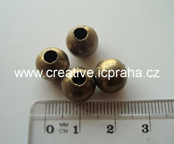 kulička 10mm - dírka 4mm /10ks ANTIK