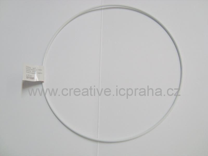 kovový kruh prům. 25cm bílý Ry2505300