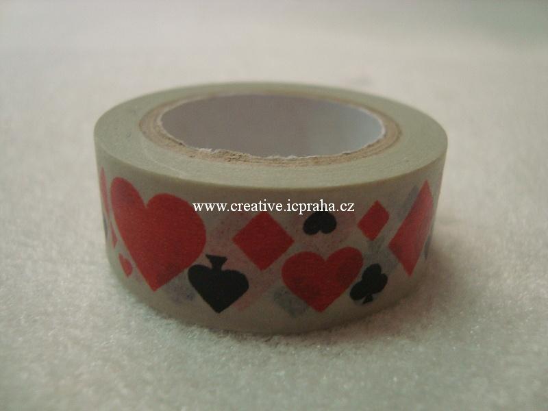 Washi páska - karetní barvy 1,5cmx8m ALT