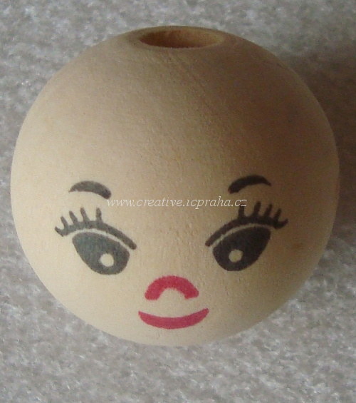 obličej 30 mm - kulička dřevěná