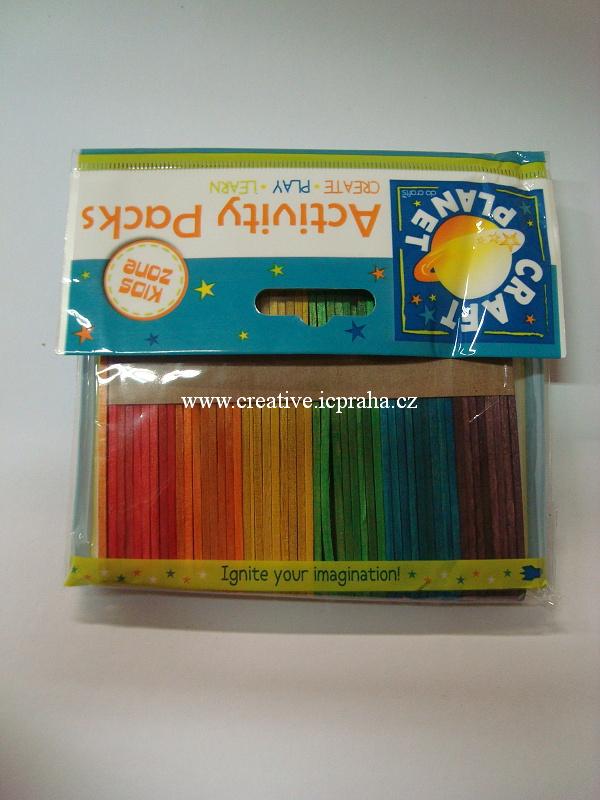 špachtle přírodní 115x10mm barvené 1ba50ks 6671111