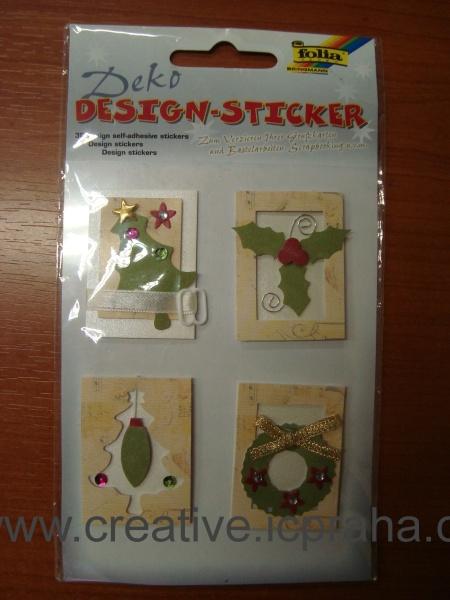 3D nálepky - různé vánoční motivy 13201