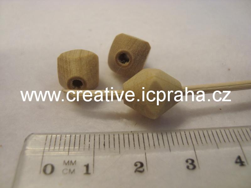 korálky na pedig tvar 12x10mm, bal.10ks - natur
