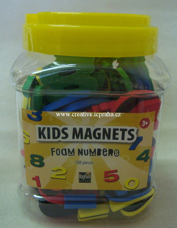Magnety - čísla z pěnovky sada 108ks