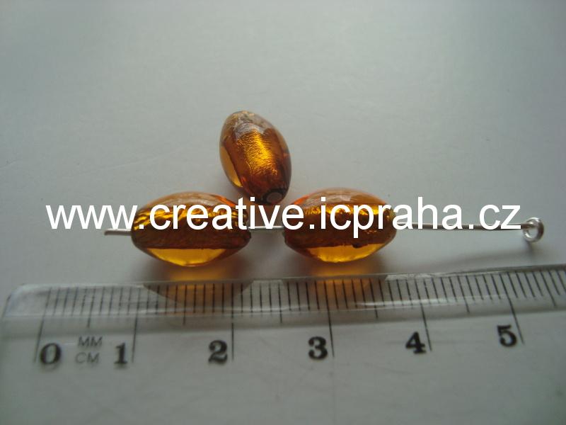 olivka topaz/stříbro 29016 12x8mm
