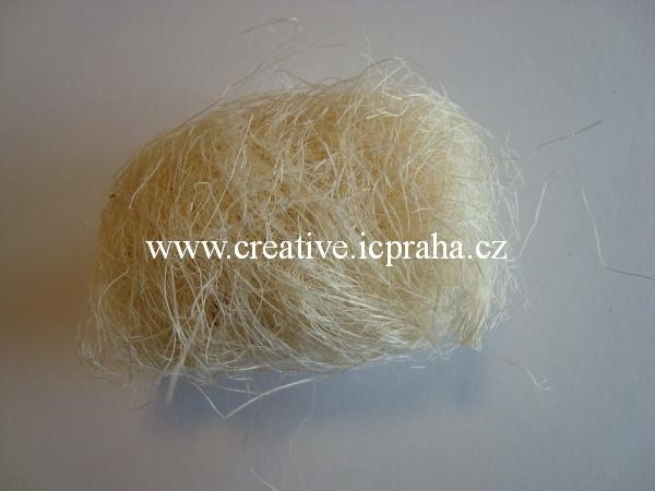 decor.vlasy/kokos cca 10g bílá