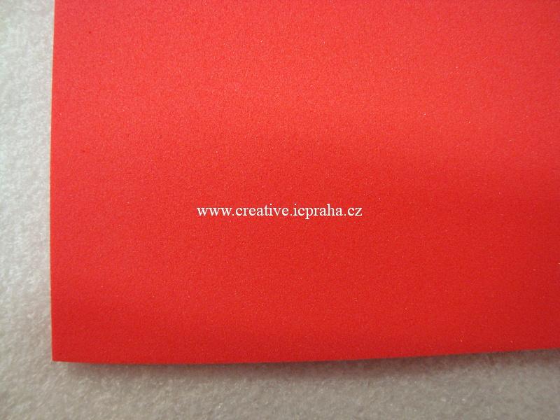 Moosgummi 20x30 cm červená