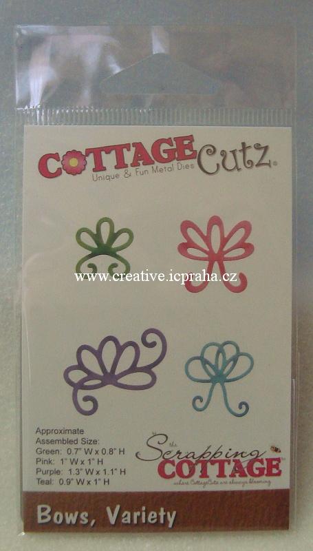 vyřezávací šablona  COTTAGE Cutz Mašličky CC097