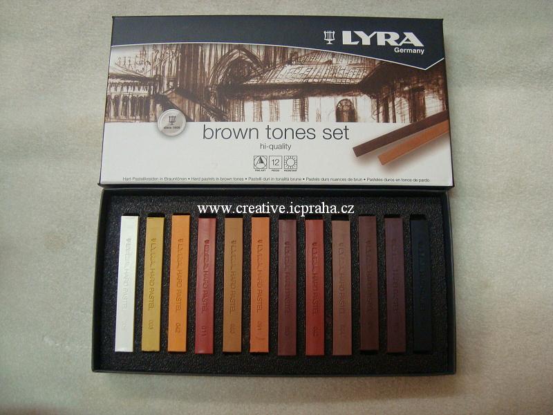 Lyra pastely suché - hnědé tóny 12ks
